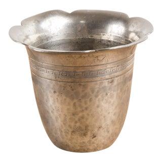 Art Deco Danish Hammered Tin Cup by Skotner