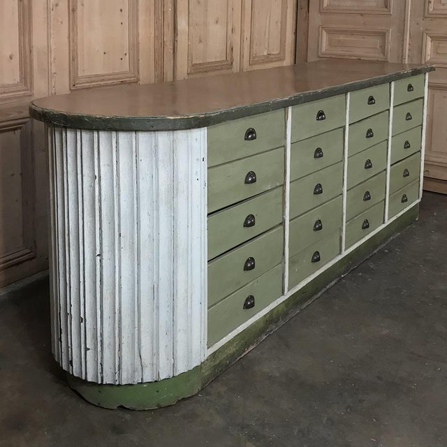 Mid-Century Modern Mid-Century Painted Store Counter For Sale - Image 3 of 13