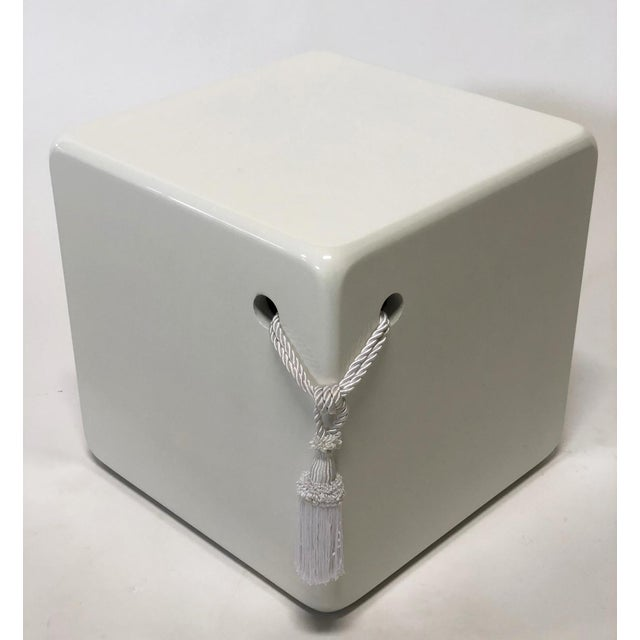 2010s Mirak Collection Cube Stool/ Table For Sale - Image 5 of 5