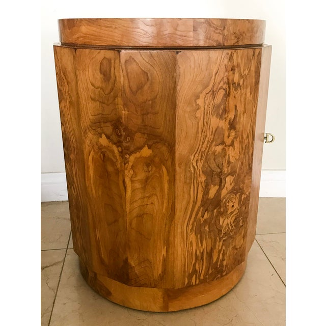 Edward Wormley for Dunbar Burl Wood Bar Cabinet - Image 6 of 7