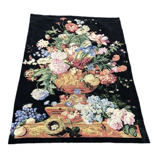 Large Vintage Hanging French Tapestry Wall Art For Sale