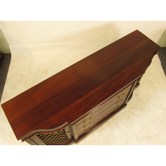 Hollywood Regency Regency Style Inlaid Mahogany Sideboard For Sale - Image 3 of 9