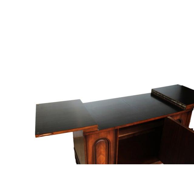 Mid Century modern Walnut Flip Top Bar Cabinet - Image 6 of 7