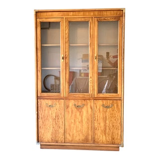 Mid 20th Century Campaign Style Display Cabinet For Sale