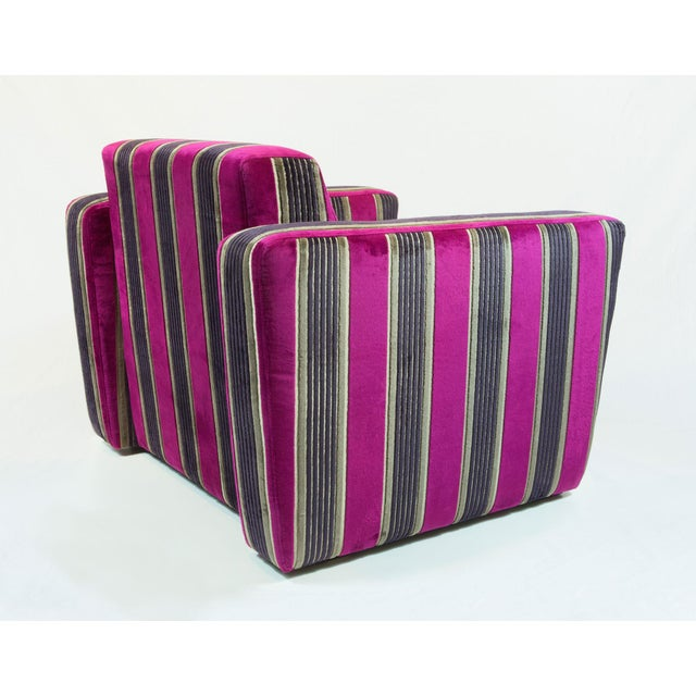 British Airways First Class Striped Club Chair - Image 8 of 10