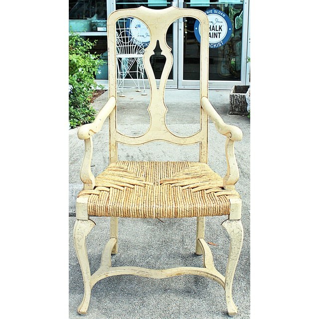 French 1960s Vintage Painted Dining Chairs- Set of 8 For Sale - Image 3 of 13