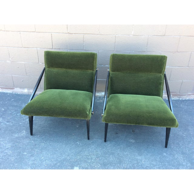 Textile Mid-Century Mohair Side Chairs- A Pair For Sale - Image 7 of 7