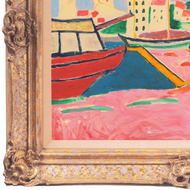 Contemporary 'Port De Vendres' by Ant McNaught, 2020, After André Derain, Esalen, California, Post Impressionist Oil For Sale - Image 3 of 12