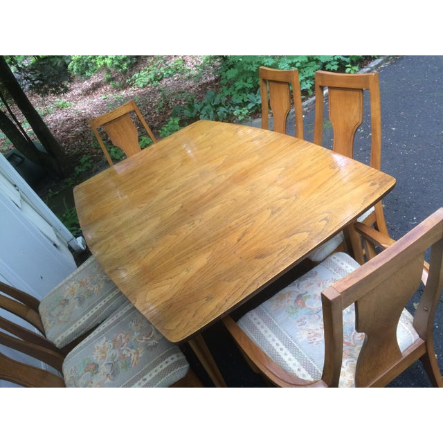 Kent Coffey Perspecta Series Dining Table & 6 Chairs Set - Image 5 of 11