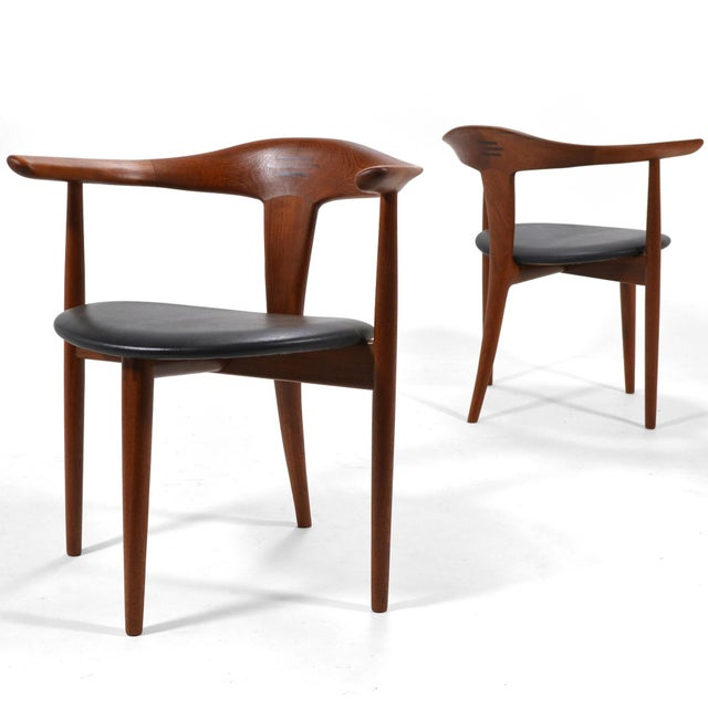 Erik Andersen and Palle Pedersen Pair of Rare Easy Chairs For Sale - Image 12 of 12