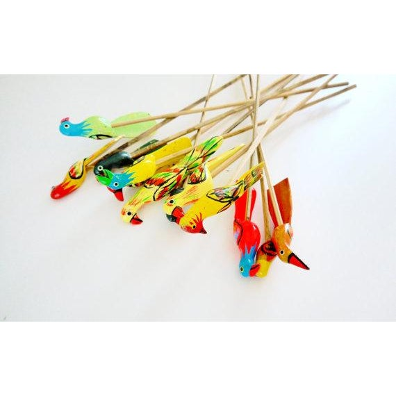 Birds of Paradise Cocktail Stirrers - Set of 12 - Image 4 of 6