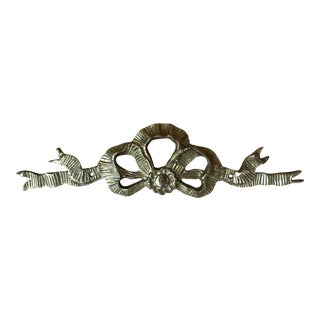 Brass Decorative Hanging Wall Swag Bow For Sale