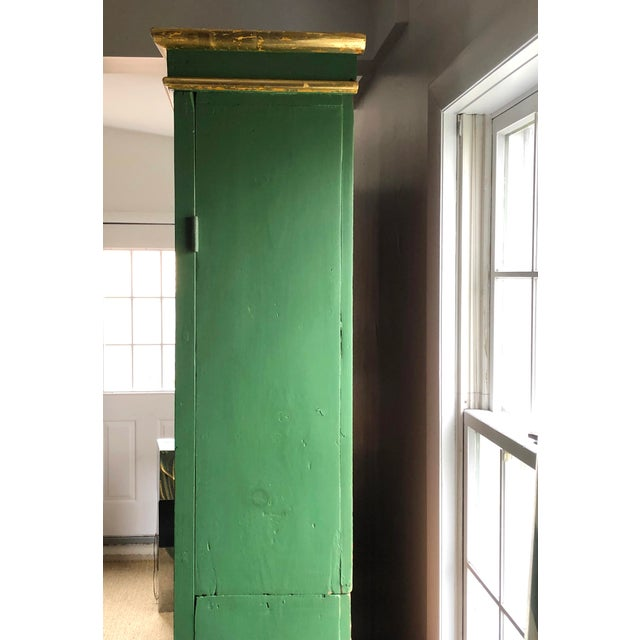 Vintage Neoclassical Style Green Painted Bookcase For Sale In Boston - Image 6 of 13