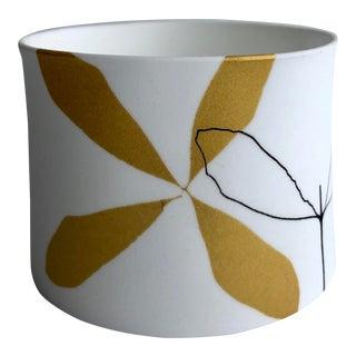 Modern Decorative Leaf Porcelain Votive Holder For Sale