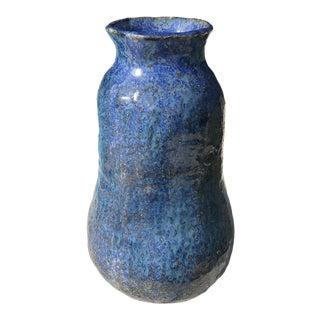 Vintage Cobalt and Blues Studio Pottery Vase For Sale