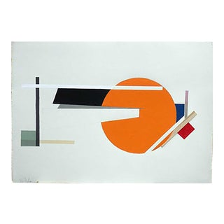 1974 Vintage Dennis John Ashbaugh Geometric Composition Collage For Sale