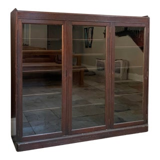 Late 19th Century Antique Wooden Bookcase For Sale