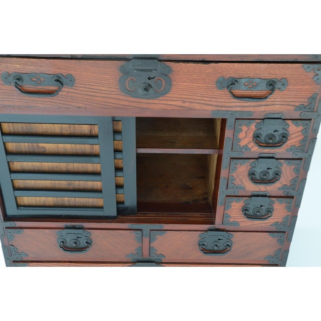 Late 19th Century Antique Japanese Hardwood Choba Tansu For Sale - Image 5 of 7