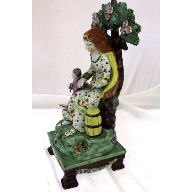 """Early 19th Century 1820s Staffordshire """"Widow"""" Figure For Sale - Image 5 of 9"""