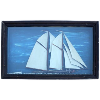 American Schooner Ship Diorama For Sale