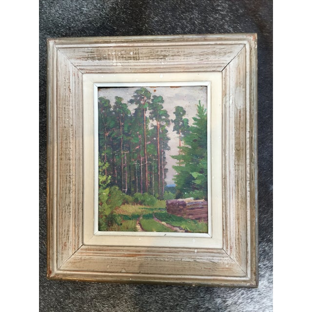 Vintage French Landscape Painting - Image 3 of 4