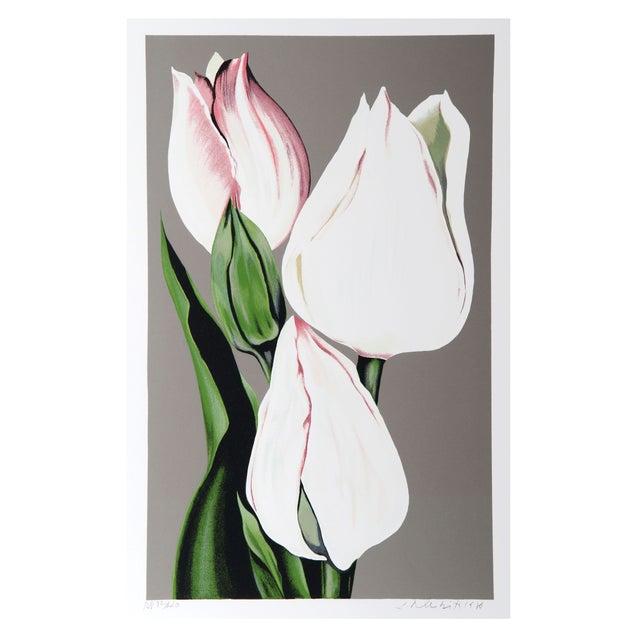 Lowell Blair Nesbitt - White Tulips Serigraph For Sale