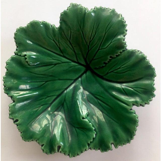 Vintage Portuguese Majolica Leaf Plate - Image 2 of 10