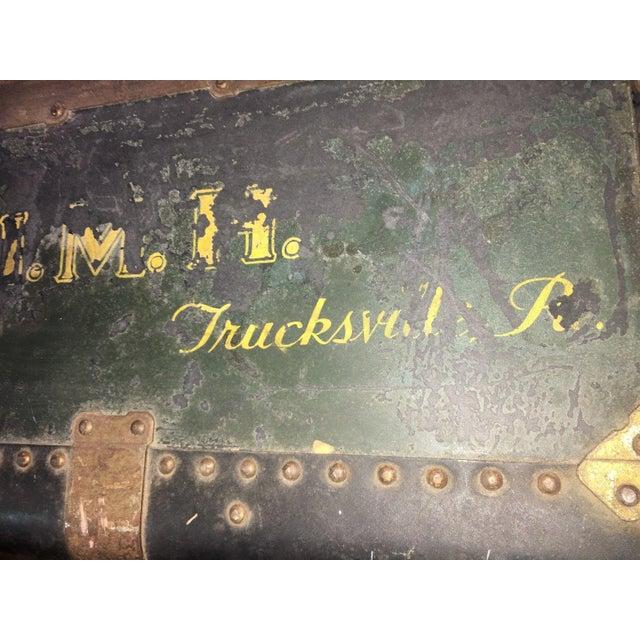 Antique Hartmann Wardrobe Steamer Luggage For Sale - Image 11 of 12