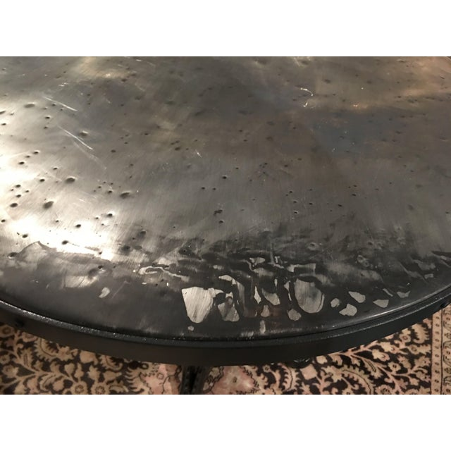 French Zinc Top Bistro Table For Sale - Image 11 of 12
