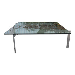 1900s Mid-Century Modern Knoll Chrome Coffee Table For Sale