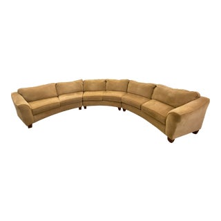 Custom Designed Extra Large Three Piece Curved Sectional For Sale