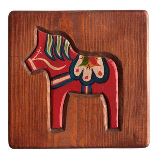 Swedish Dala Horse Plaque