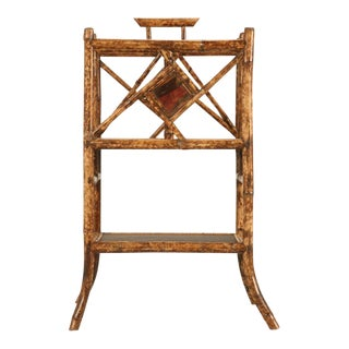 Extraordinary Antique English Bamboo Canterbury/Magazine Stand