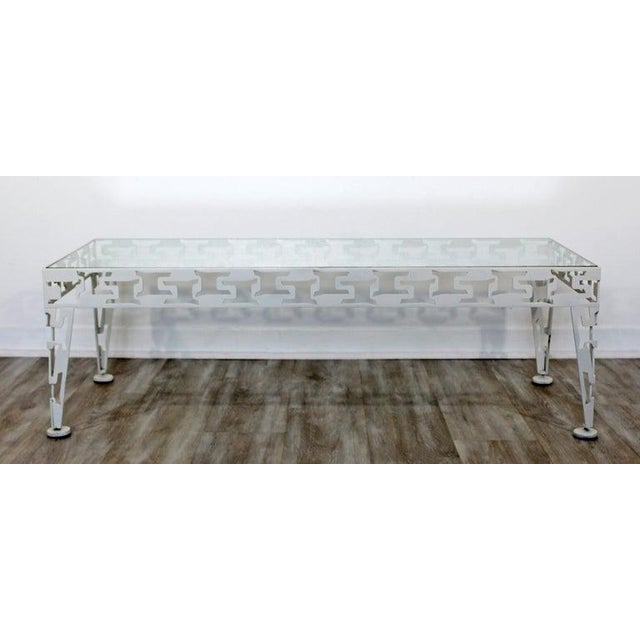 For your consideration is a lovely set of three patio tables with glass tops, a pair of side tables and a coffee table,...