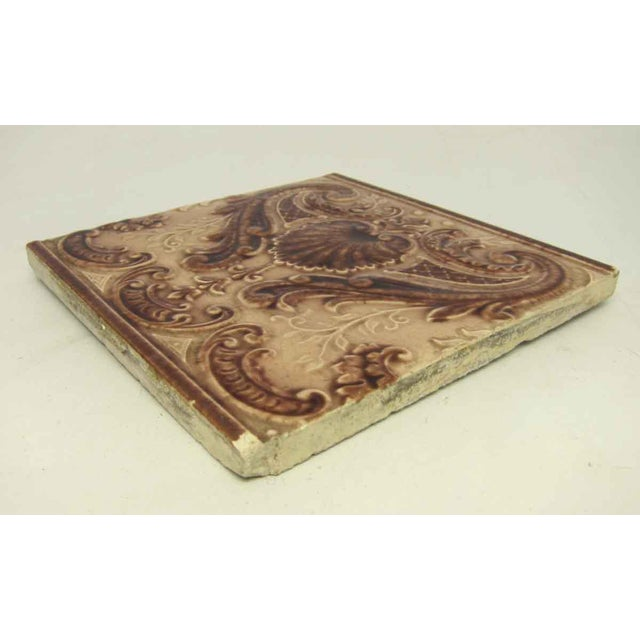 Victorian Minton Hollins Shell Fireplace Surround Tiles - Image 5 of 7