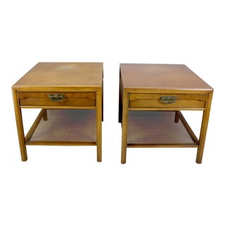 Mid Century Walnut Nightstands - a Pair For Sale