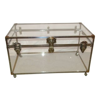 Lucite Acrylic Trunk on Wheels