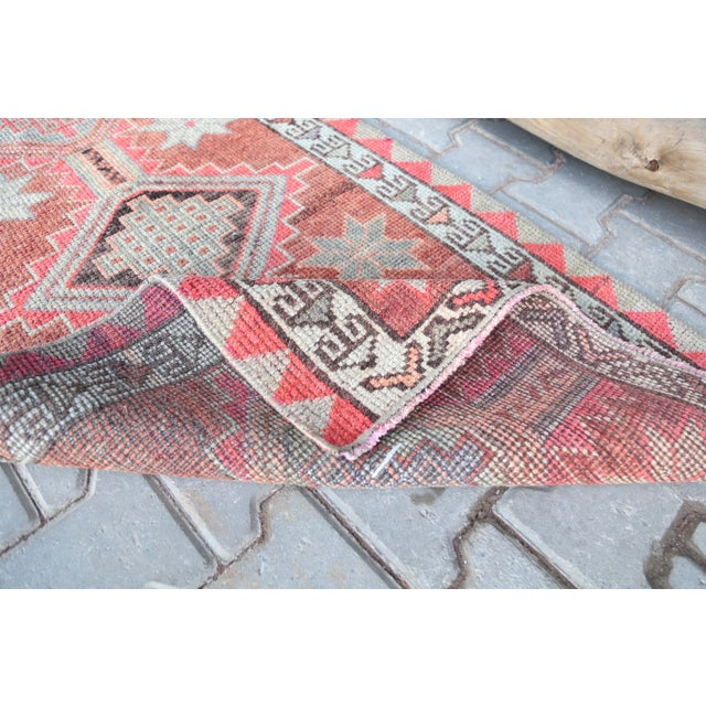 """1950s 1950's Vintage Turkish Hand-Knotted Hallway Runner Rug - 2'6"""" X 12'9"""" For Sale - Image 5 of 11"""