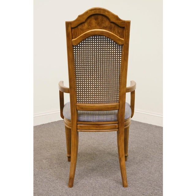 Late 20th Century Vintage Thomasville Furniture Romano Collection Cane Back Dining Chair For Sale In Kansas City - Image 6 of 10