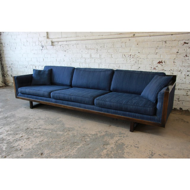 Milo Baughman Style Mid-Century Modern Floating Sofa For Sale - Image 4 of 11