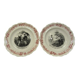 Hors D' Oeuvres Plates. By Creilet Montereau. For Sale
