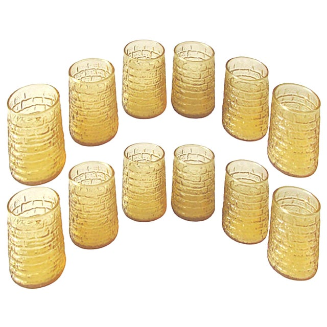 Mid-Century Modern Mid-Century Faux Bamboo Juice Glasses C.1960, Set of 12 For Sale - Image 3 of 3