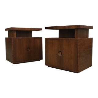 Pair of Andrew Szoeke End Tables in Rosewood For Sale