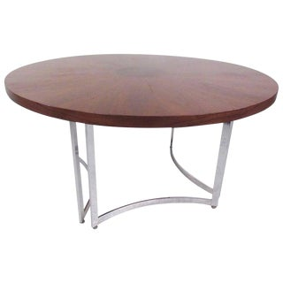 Mid-Century Modern Burl Wood Dining Table For Sale