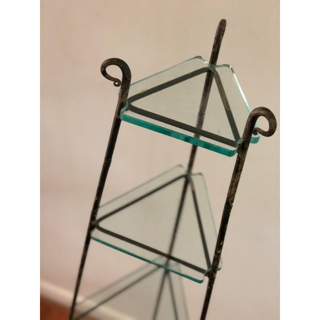 1930s French Art Deco Forged Iron Cookware or Plant Stand For Sale - Image 5 of 12
