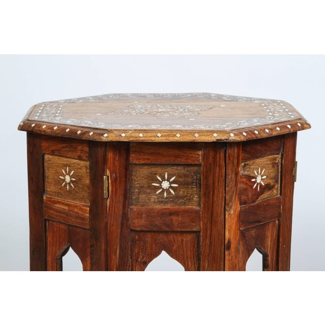 Anglo Indian Bone Inlaid Octagonal Side Table For Sale - Image 4 of 8