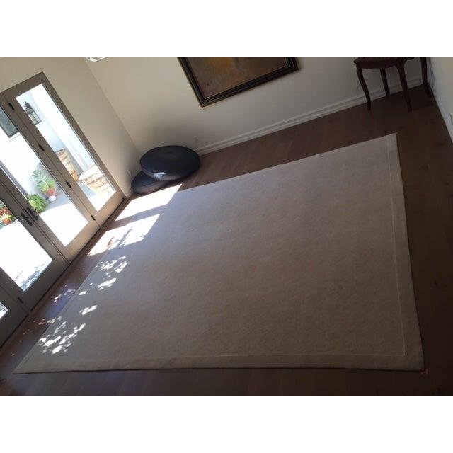 Bone White Designer Wool Rug- 11' x 14' - Image 2 of 7