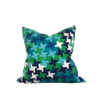 Schumacher Azure Blue Jax Pillow For Sale