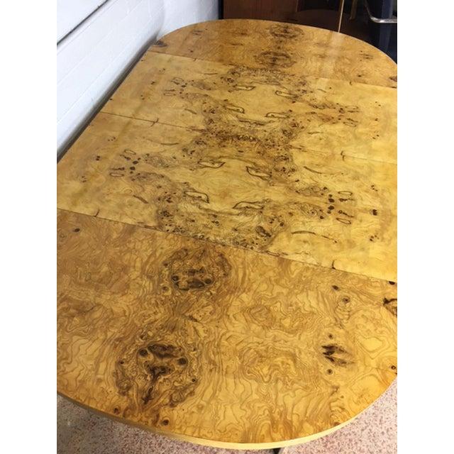 Milo Baughman Burlwood Dining Table - Image 9 of 10