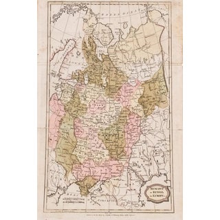 Antique Map of Euro Russia by Brightly and Kinnersley For Sale